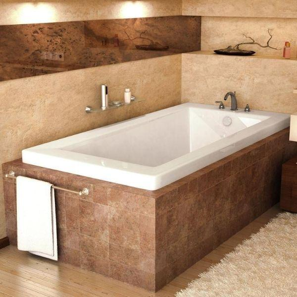 Atlantis Bathtubs Atlantis Whirlpools Venetian Rectangular Soaking Bathtub 4260VN Front Side View