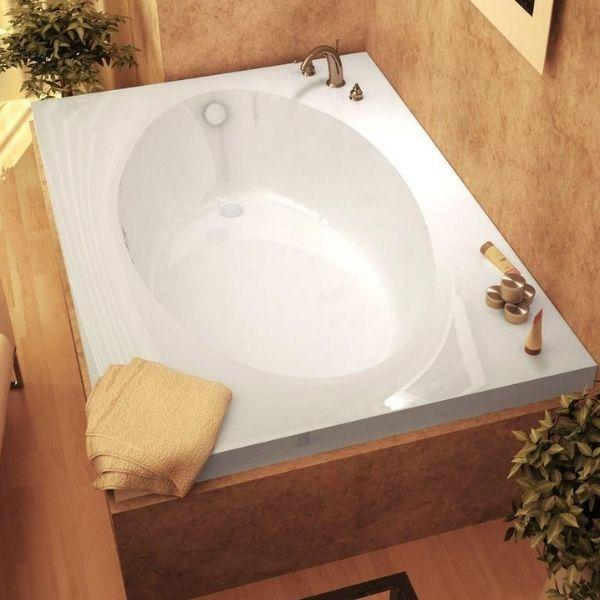 Atlantis Bathtubs Atlantis Whirlpools Vogue Rectangular Soaking Bathtub 4260V Top View