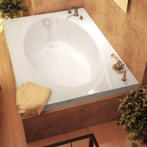 Atlantis Bathtubs Atlantis Whirlpools Vogue Rectangular Soaking Bathtub 4384V Top View