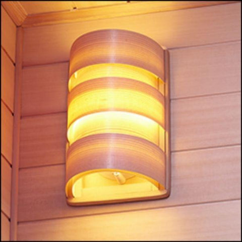 Clearlight Infared Saunas Cedar Clearlight Premier Five Person Far Infrared Sauna IS-5 Beautiful Wood Light Shade View