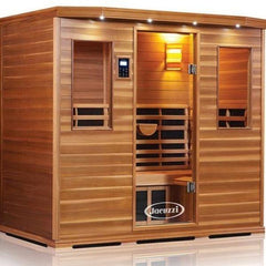 Clearlight Infared Saunas Cedar Clearlight Premier Five Person Far Infrared Sauna IS-5 Front Side View
