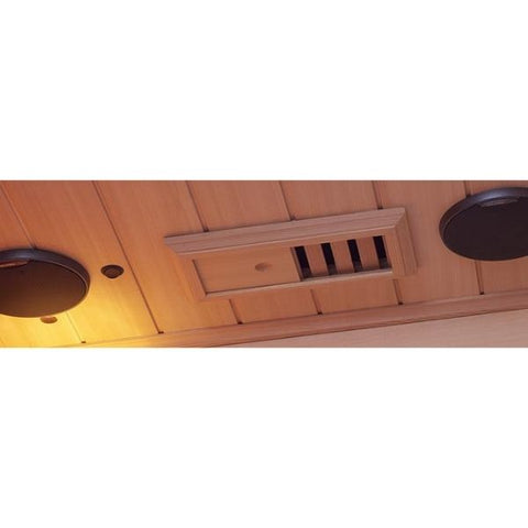 Clearlight Infared Saunas Cedar Clearlight Premier Five Person Far Infrared Sauna IS-5 Stereo Speaker View