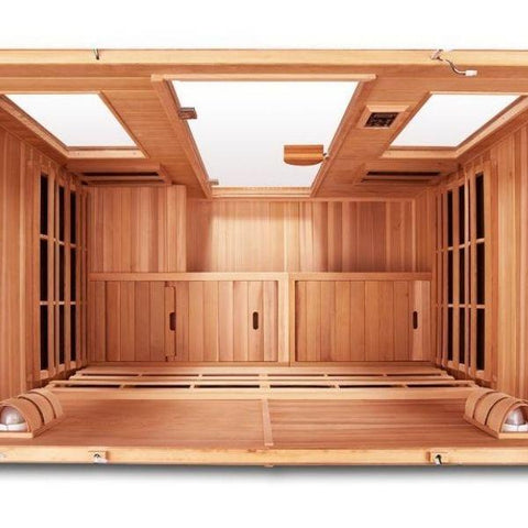 Clearlight Infared Saunas Cedar Clearlight Premier Five Person Far Infrared Sauna IS-5 Top View