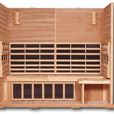 Clearlight Infared Saunas Cedar Clearlight Premier Five Person Far Infrared Sauna Inside View IS-5