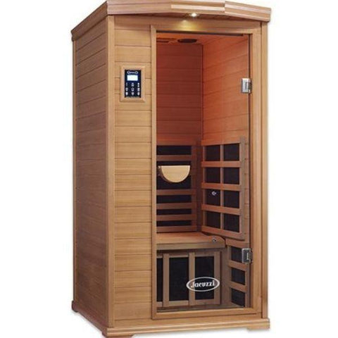 Clearlight Infrared Saunas Clearlight Premier IS-1 One Person Far Infrared Sauna Cedar  Front View