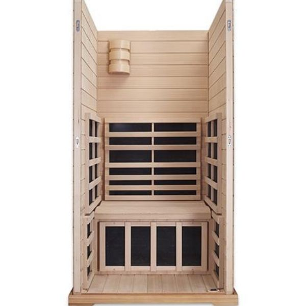 Clearlight Infrared Saunas Clearlight Premier IS-1 One Person Far Infrared Sauna Inside View