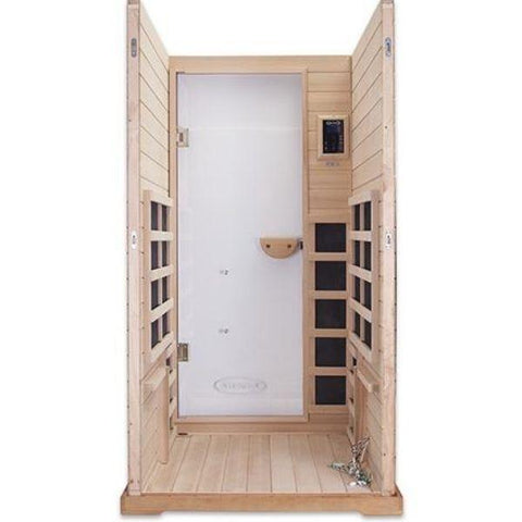 Clearlight Infrared Saunas Clearlight Premier One Person Far Infrared Sauna Inside View IS-1