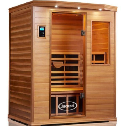 Clearlight Infrared Saunas Cedar Clearlight Premier Three Person Far Infrared Sauna Front Side View IS-3