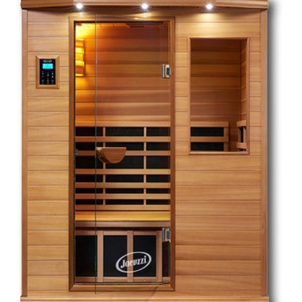 Clearlight Infrared Saunas Cedar Clearlight Premier Three Person Far Infrared Sauna Front View IS-3