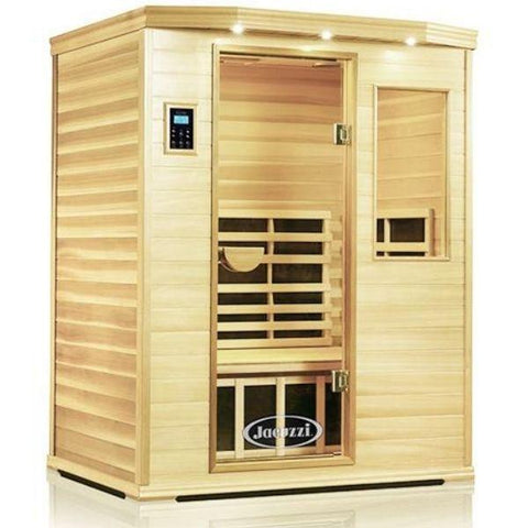 Clearlight Infrared Saunas Cedar Clearlight Premier Three Person Far Infrared Sauna IS-3 Front Side View