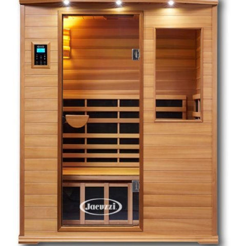 Clearlight Infrared Saunas Cedar Clearlight Premier Three Person Far Infrared Sauna IS-3 Front View