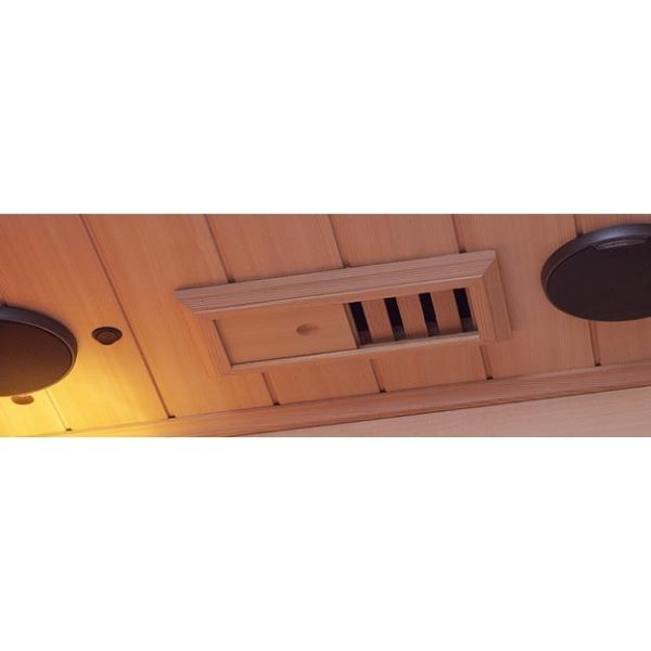 Clearlight Infrared Saunas Cedar Clearlight Premier Three Person Far Infrared Sauna IS-3 Nakamichi Stereo Speaker