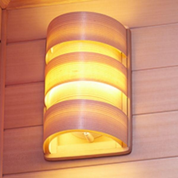 Clearlight Infrared Saunas Clearlight Premier IS-1 One Person Far Infrared Sauna Beautiful Wood Light Shade View