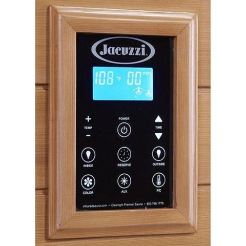 Clearlight Infrared Saunas Clearlight Premier IS-1 One Person Far Infrared Sauna Control Temperature View