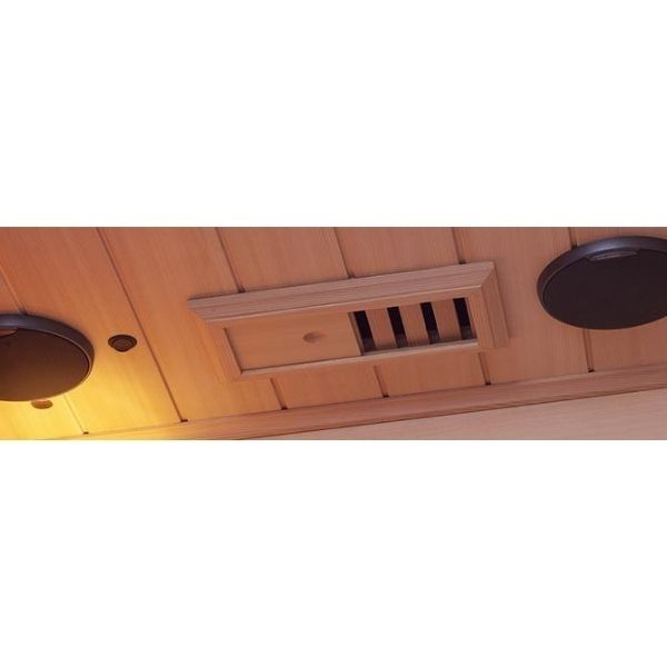 Clearlight Infrared Saunas Clearlight Premier IS-1 One Person Far Infrared Sauna Stereo Speaker View