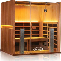 Clearlight Infrared Saunas Clearlight anctuary Y Full Spectrum 4 Person Infrared Sauna Y-FS Front Side View