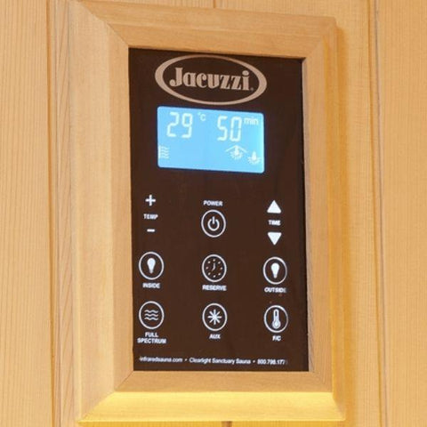 Clearlight Infrared Saunas Clearlight Sanctuary Y Full Spectrum 4-Person Infrared Sauna Y-FS Keypad Controller View