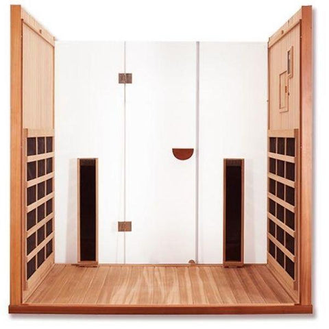 Clearlight Infrared Saunas Clearlight Sanctuary Y Full Spectrum 4-Person Infrared Sauna Y-FS  Open Back View