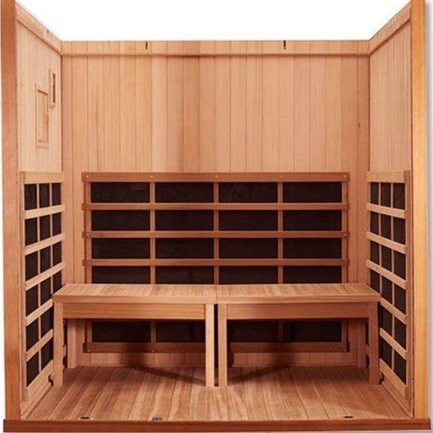 Clearlight Infrared Saunas Clearlight Sanctuary Y Full Spectrum 4-Person Infrared Sauna Y-FS  Open Front View