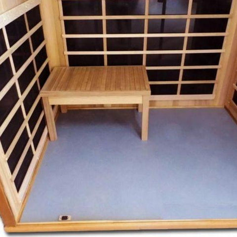 Clearlight Infrared Saunas ClearlightS anctuary YFull Spectrum 4-Person Infrared Sauna Y-FS Open Yoga Bench View