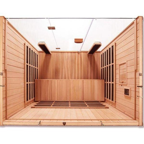 Clearlight Infrared Saunas Clearlight Sanctuary Y Full Spectrum 4-Person Infrared  Sauna Y-FS Top View