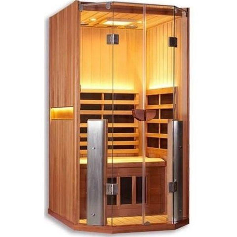 Clearlight Sanctuary 1 Full Spectrum One Person Infrared Sauna 1-FS Cedar Front Side View