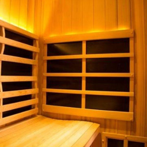 Clearlight Sanctuary 1 Full Spectrum One Person Infrared Sauna 1-FS Ergonomic Backrest View