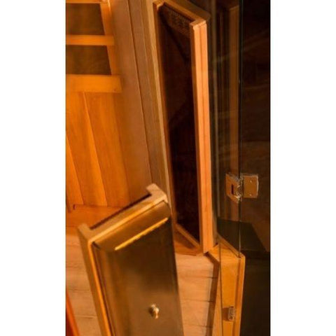 Clearlight Sanctuary 1 Full Spectrum One Person Infrared Sauna 1-FS Front Heaters