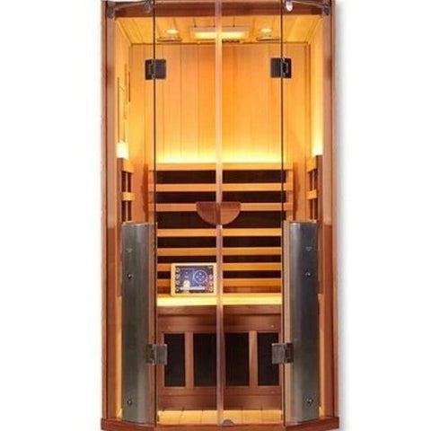 Clearlight Sanctuary 1 Full Spectrum One Person Infrared Sauna 1-FS Front View