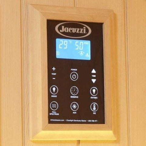 Clearlight Sanctuary 1 Full Spectrum One Person Infrared Sauna 1-FS Keypad Controller View