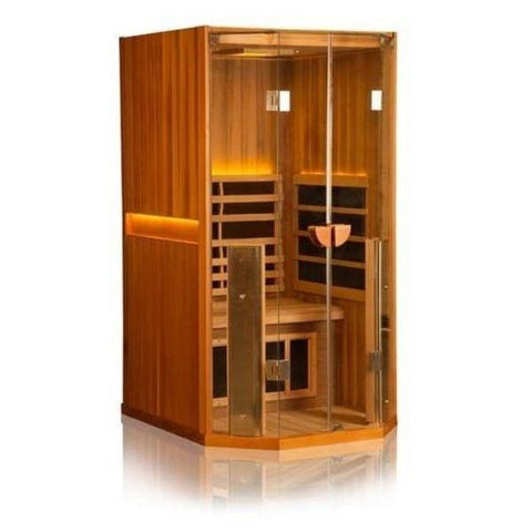 Clearlight Sanctuary 1 Full Spectrum One Person Infrared Sauna Front Side View 1-FS