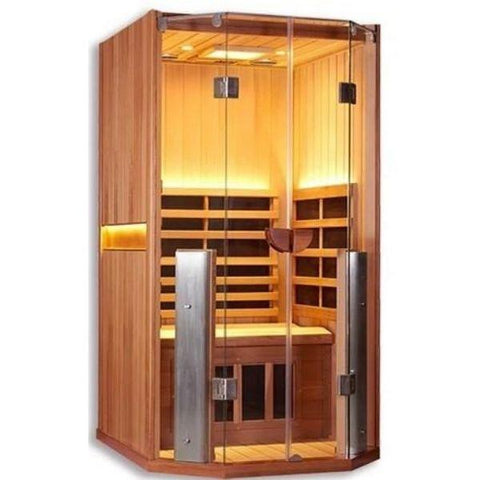 Clearlight Sanctuary 1 Full Spectrum One Person Infrared Sauna Side Front View 1-FS