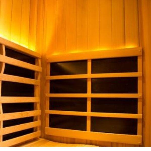 Clearlight Sanctuary 2 Full Spectrum Two Person Infrared Sauna 2-FS Ergonomic Backrest View