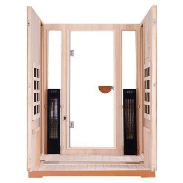 Clearlight Sanctuary 2 Full Spectrum Two Person Infrared Sauna 2-FS Front Heater View