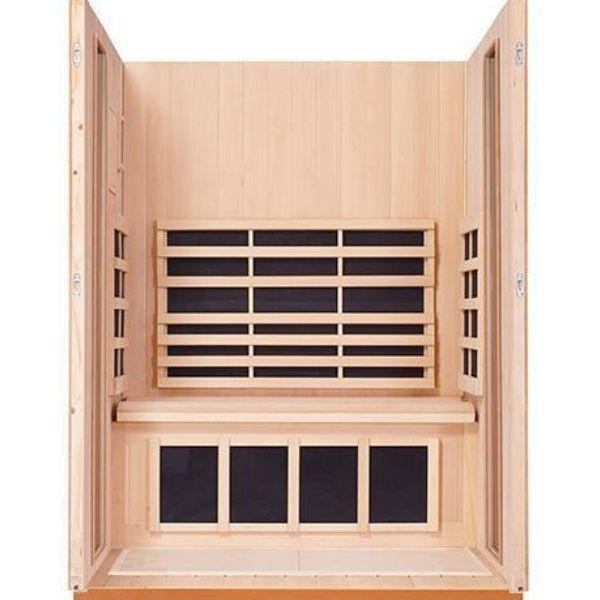 Clearlight Sanctuary 2 Full Spectrum Two Person Infrared Sauna 2-FS Inside View