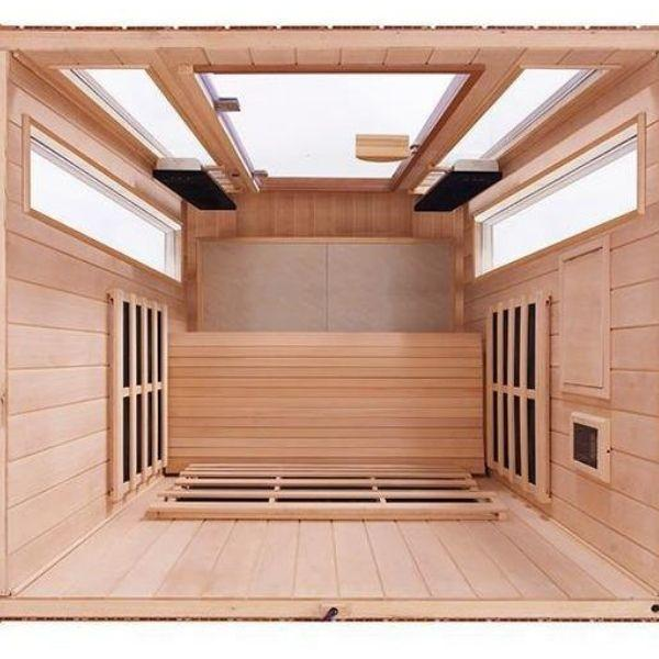 Clearlight Sanctuary 2 Full Spectrum Two Person Infrared Sauna 2-FS Top View