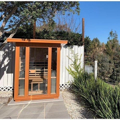 Clearlight Sanctuary 2 Outdoor Front View  Two-Person Full-Spectrum Infrared Sauna