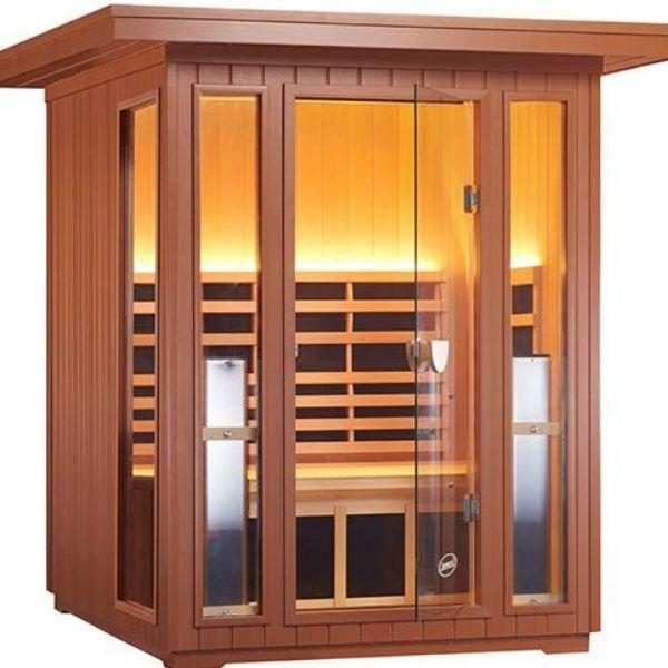 Clearlight Sanctuary 2 Outdoor Two-Person Full-Spectrum Infrared Sauna  Front Side View