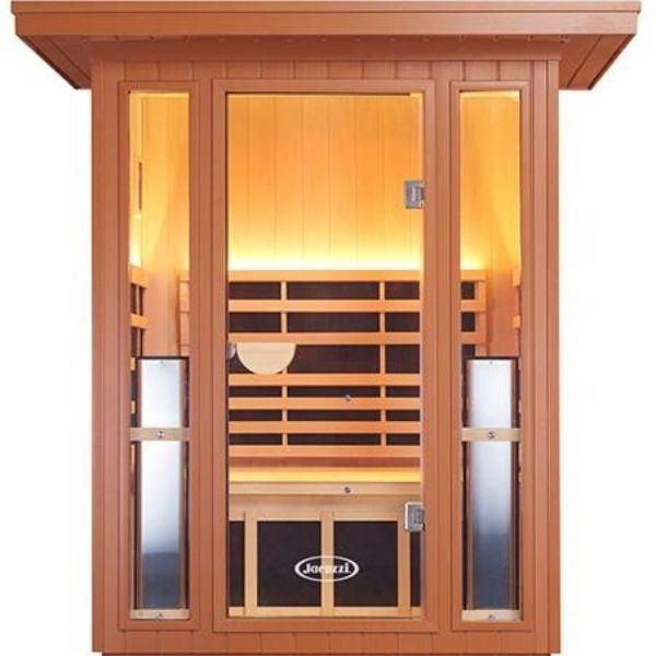 Clearlight Sanctuary 2 Outdoor Two-Person Full-Spectrum Infrared Sauna Front View