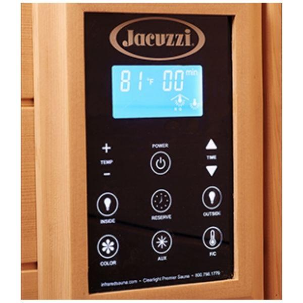 Clearlight Sanctuary 2 Outdoor Two-Person Full-Spectrum Infrared Sauna  Keypad Controller View