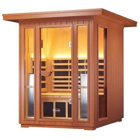 Clearlight Sanctuary 2 Outdoor Two-Person Full-Spectrum Infrared Sauna Right View