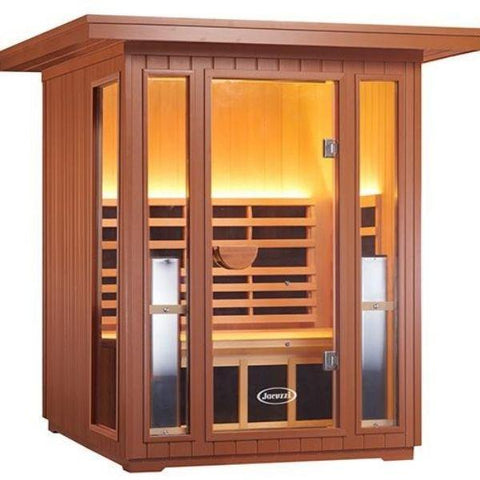 Clearlight Sanctuary 2 Outdoor Two-Person Full-Spectrum Infrared Sauna Side Front View