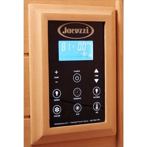 Clearlight Sanctuary 5 Outdoor Full Spectrum Five-Person Infrared Sauna  Keypad Controller View
