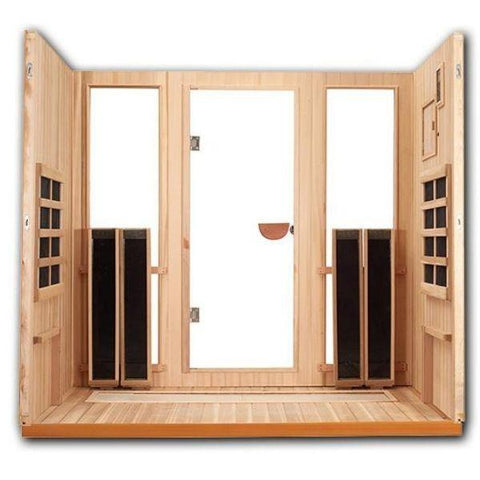 Clearlight Sanctuary 5 Outdoor Full Spectrum Five-Person Infrared Sauna  Open Back View