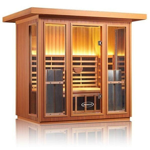 Clearlight Sanctuary 5 Outdoor Full Spectrum Five-Person Infrared Sauna Side Front View