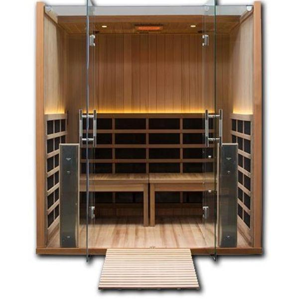 Clearlight Sanctuary Retreat Full Spectrum Four Person ADA-Compliant Infrared Sauna Front Open View