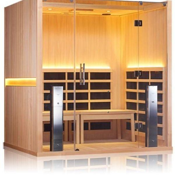 Clearlight Sanctuary Retreat Full Spectrum Four Person ADA-Compliant Infrared Sauna Front Side View