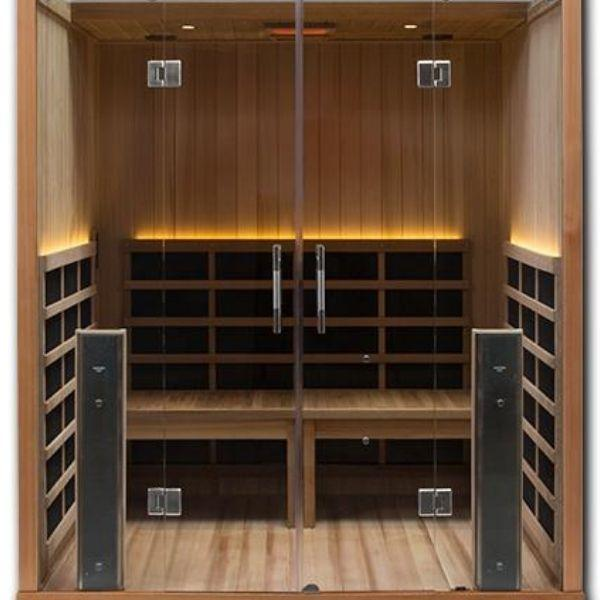 Clearlight Sanctuary Retreat Full Spectrum Four Person ADA-Compliant Infrared Sauna Front View
