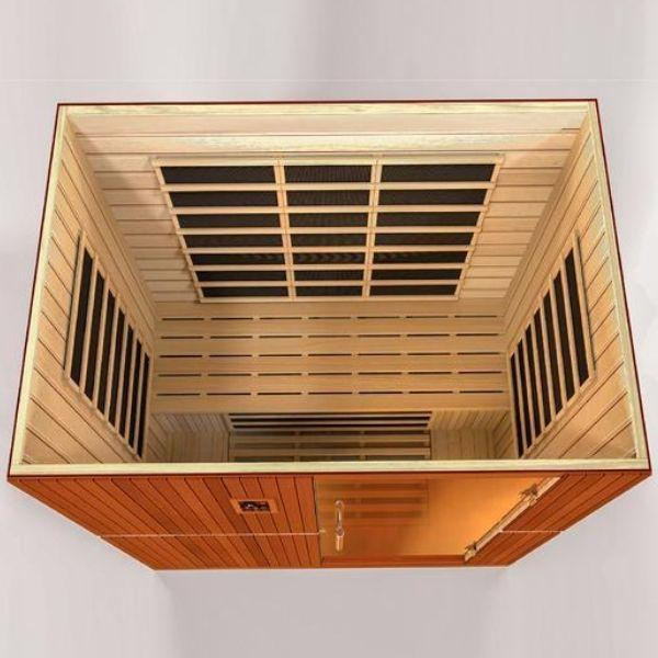 Golden Designs Dynamic Grande Madrid Low EMF FAR Infrared Sauna DYN-6410-01 Front Top View