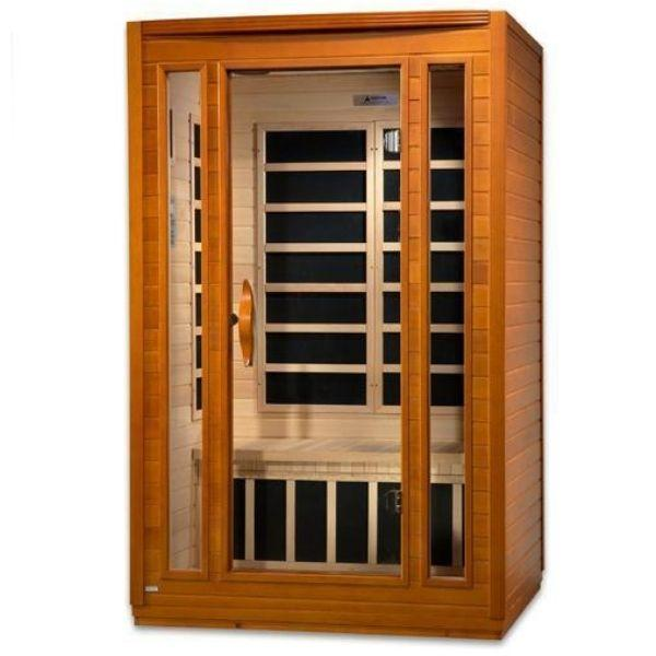Golden Designs Dynamic San Marino Low EMF FAR Infrared Sauna DYN-6206-01 Front Side View